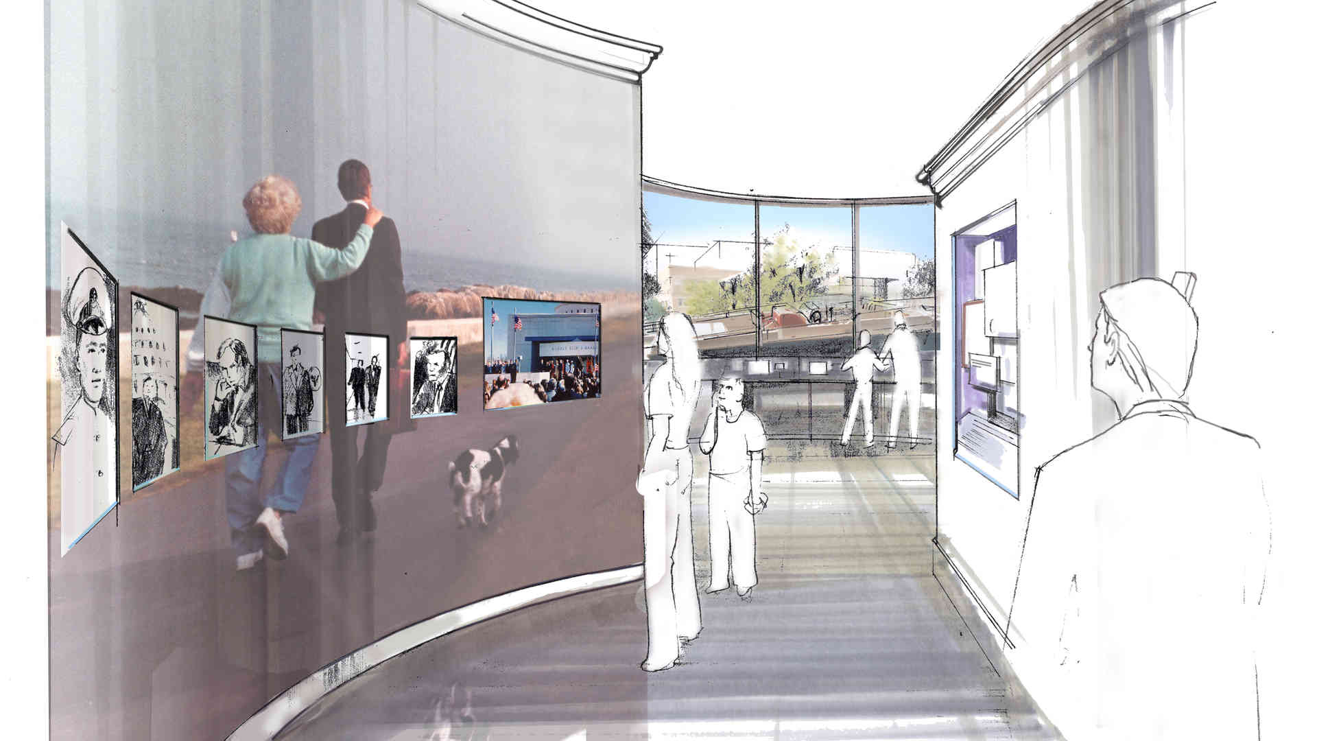 george bush library and museum master plan and concept