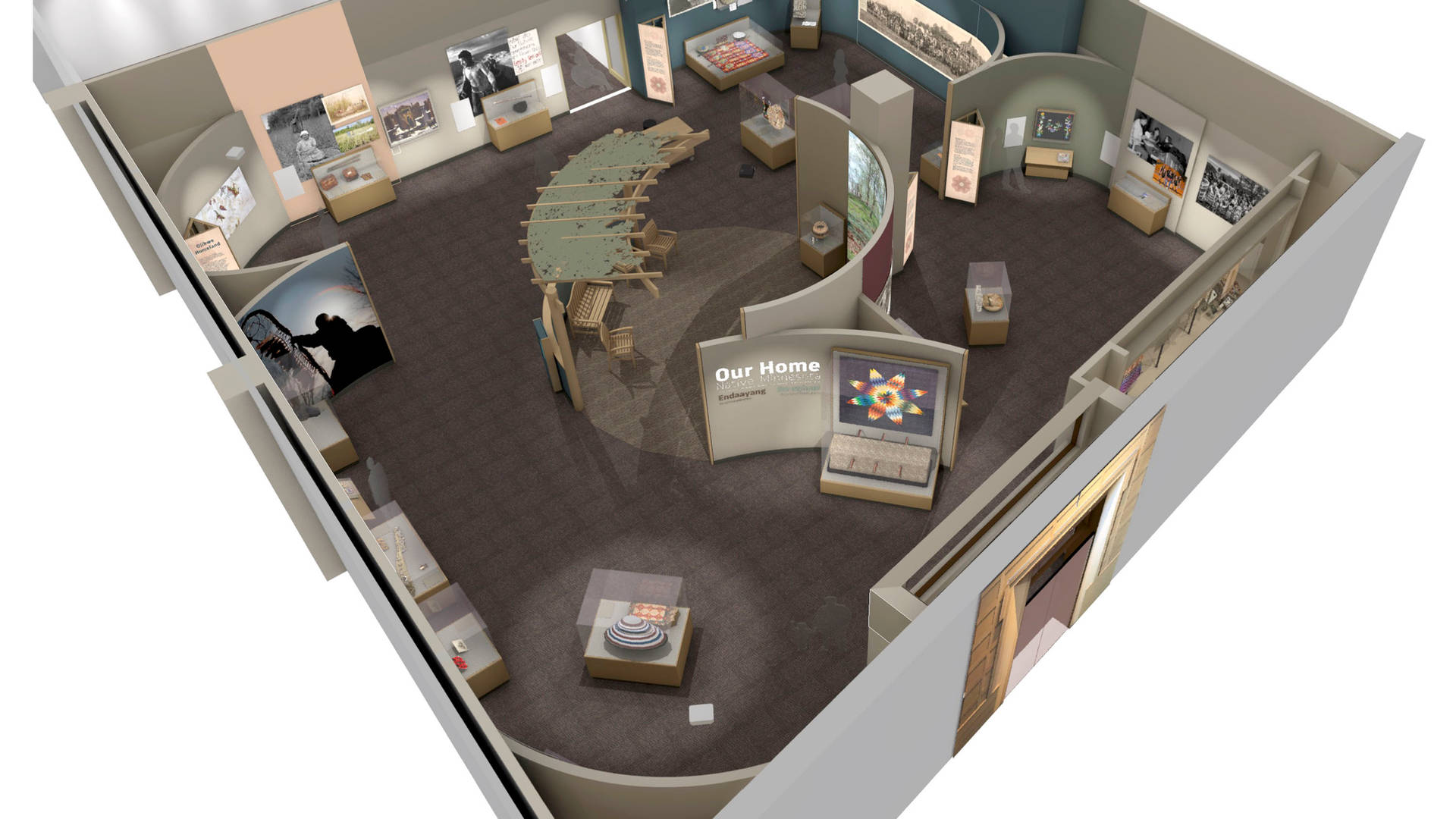 our home native minnesota exhibit 3d rendering and master plan
