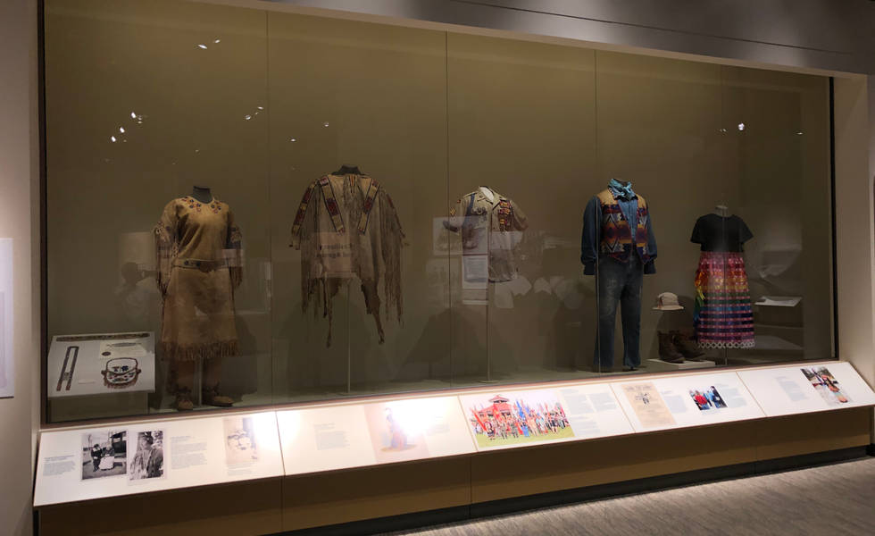 our home native minnesota exhibit photo of clothing artifacts