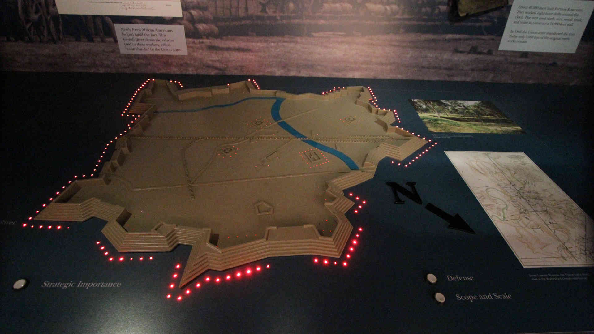 stones river national battlefield visitor center and headquarters exhibit interactive