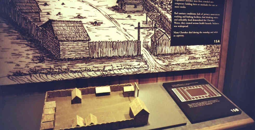 trail of tears museum exhibit facsimile