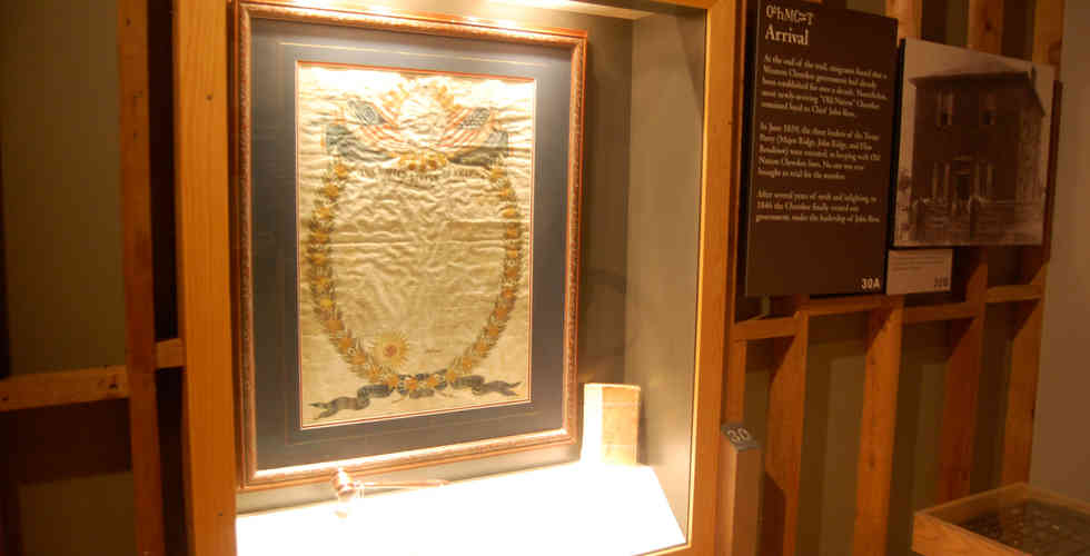 trail of tears museum exhibition artifact in case