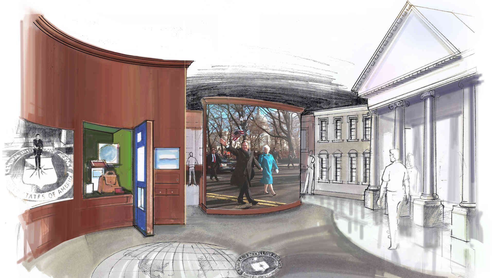 george bush library and museum master plan and concept of exhibit