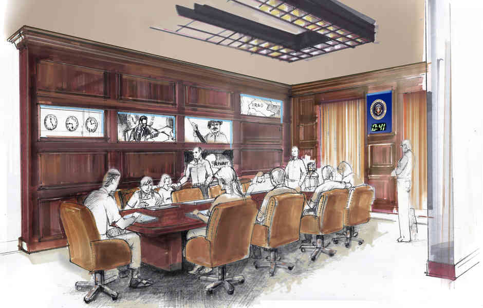 george bush library and museum master plan and concept of the situation room