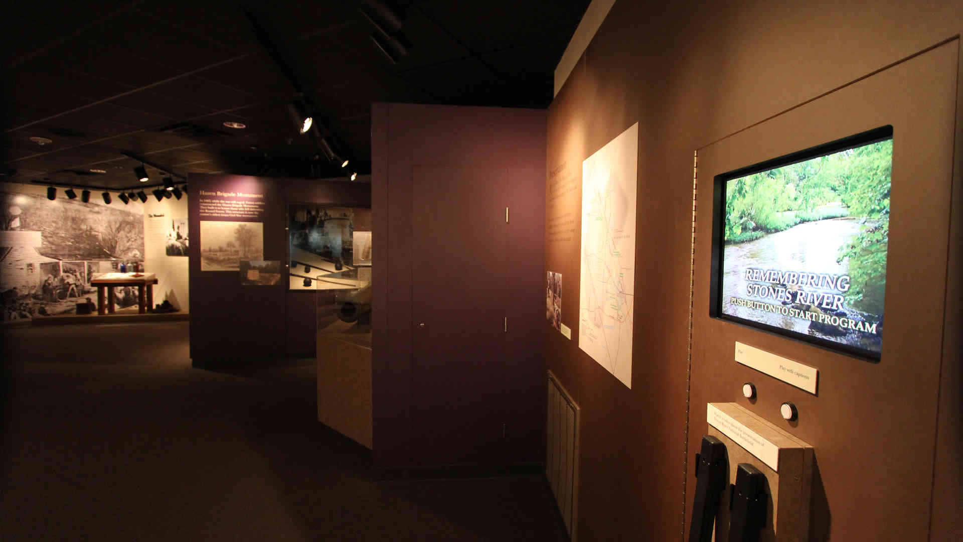 stones river national battlefield visitor center and headquarters exhibit audio visual