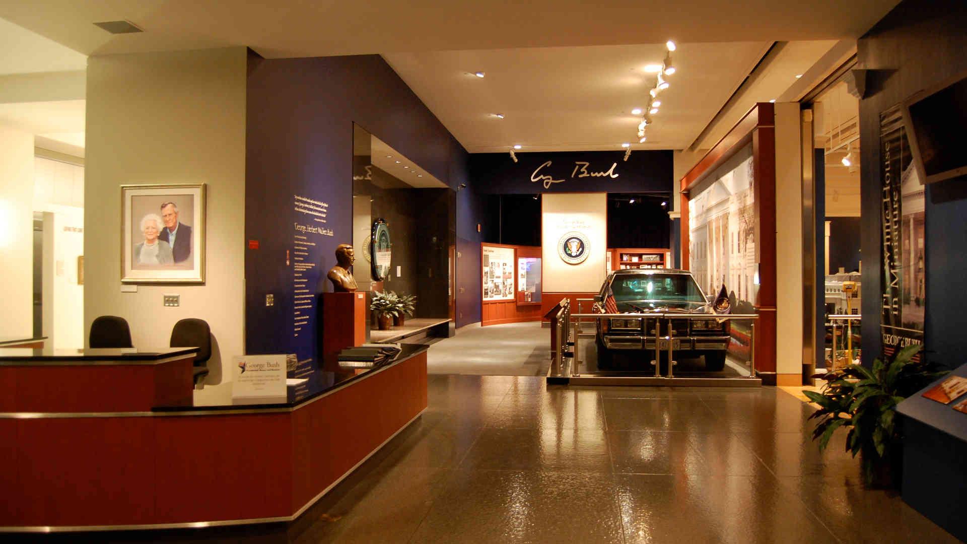 george bush library and museum secret service car exhibit