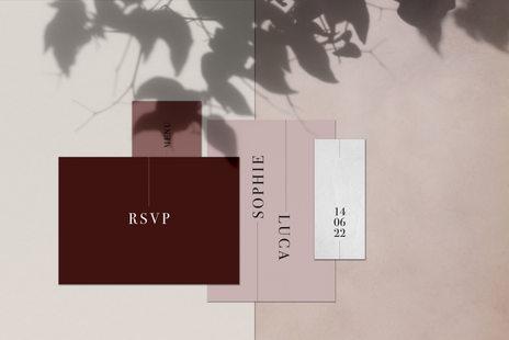 Wedding Invitation Rosé