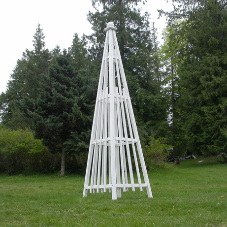 8' Cedar Obelisk, White Stain
