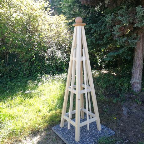 """5' Pine Obelisk, 16"""" Base"""
