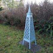 6' Diamond Trellis Obelisk, Spire Finial