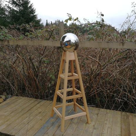 5' cedar Gazing Ball Stand