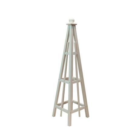 5' Obelisk, Solid White Stain
