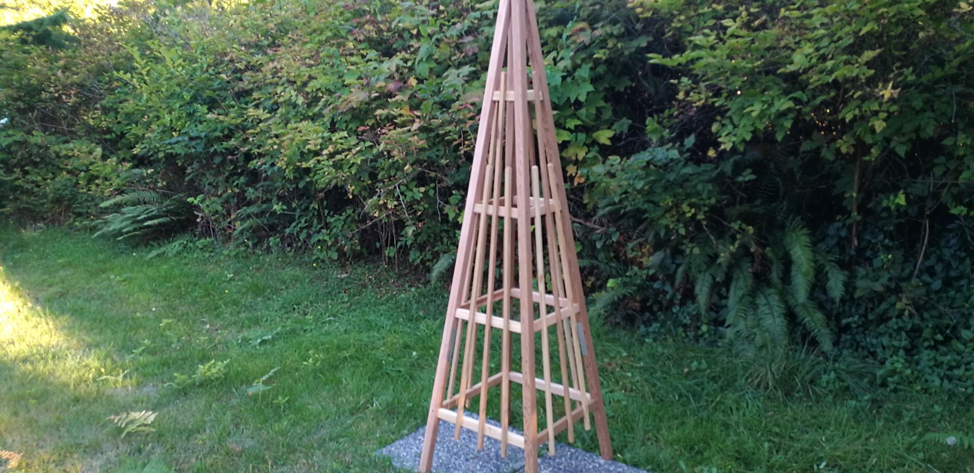 7' Cedar Obelisk