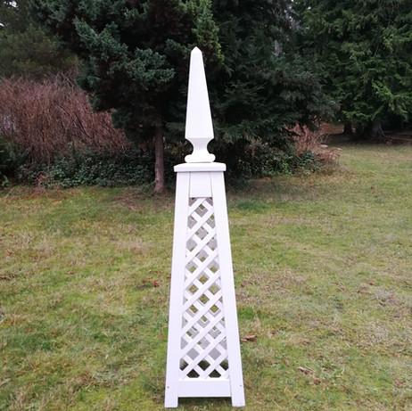6' Trellis Obelisk with custom Finial