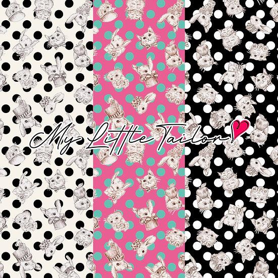 【ミニ柄】WonderDrop(ドット柄)White,Pink,Black≪3色≫
