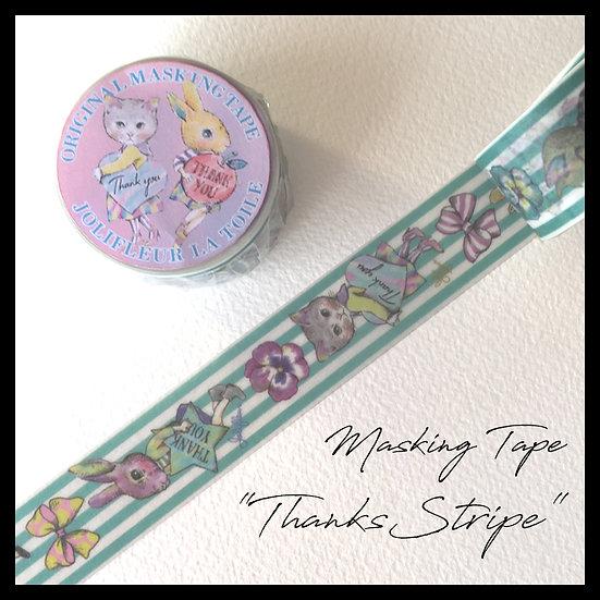 【雑貨】20mmマスキングテープ(Thanks Stripe)