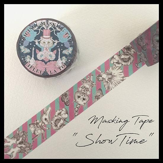 【雑貨】20mmマスキングテープ(PinkGreen Stripe)