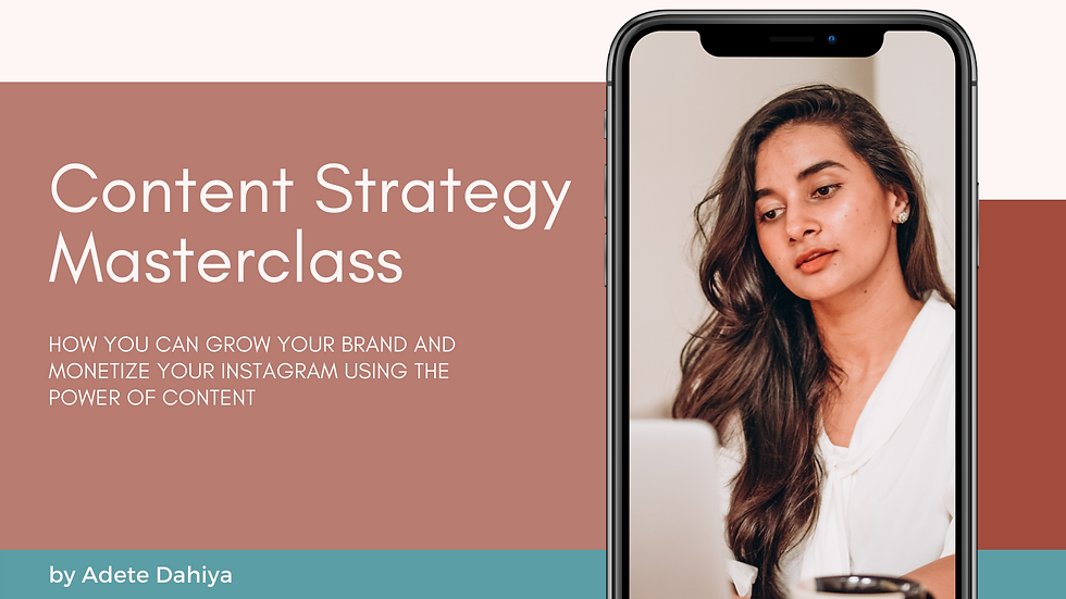 Instagram Content Strategy Masterclass