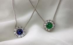 Sapphire & Emerald Diamond Cluster