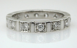 Diamond Mirror Eternity Band