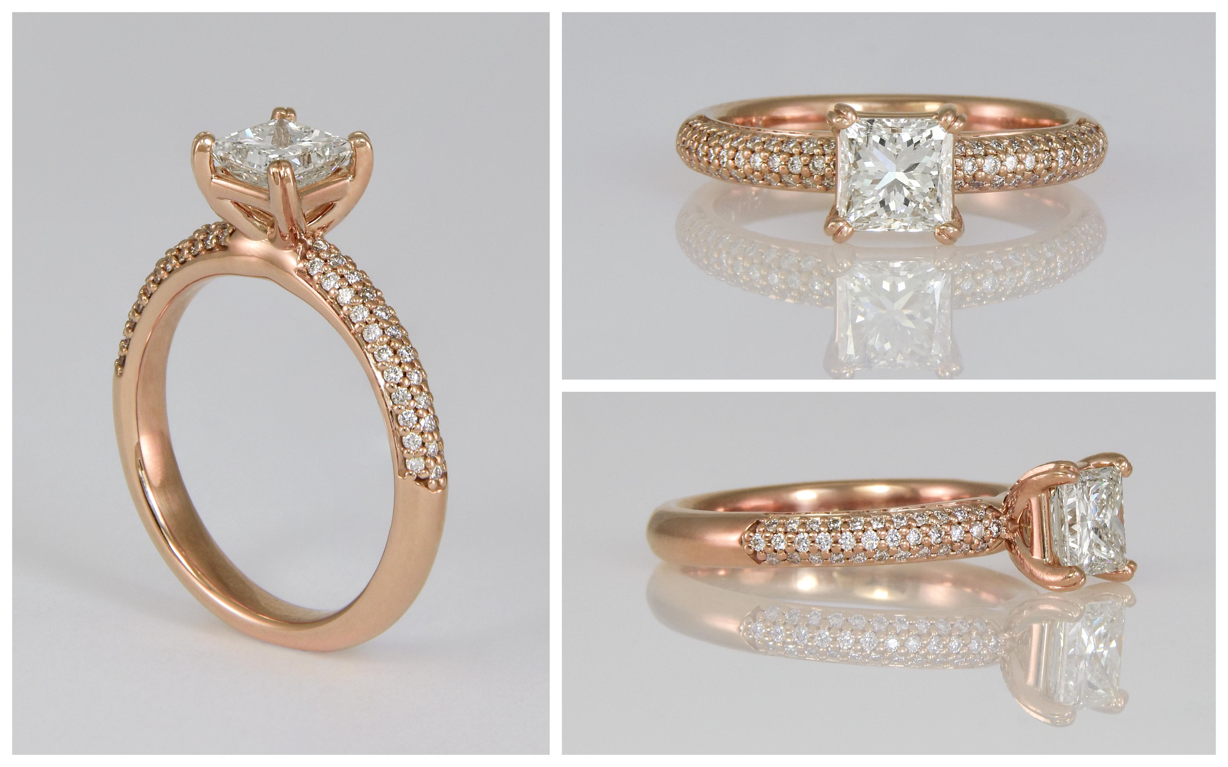14KR Diamond Pave Engagement Ring