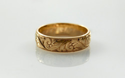 Hand Engraved Band with Scroll