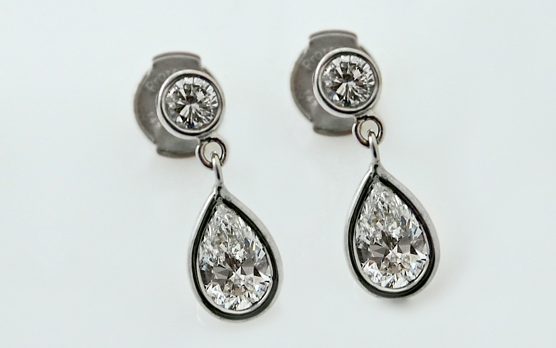 Pear Shape Diamond Drops