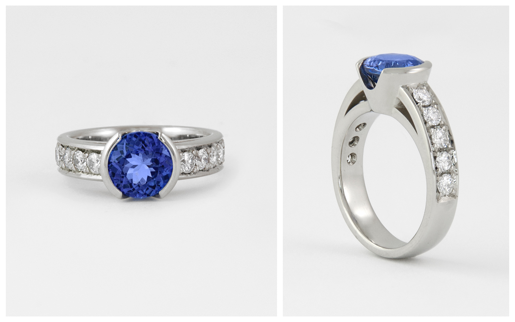 14KW Tanzanite and Diamond Ring