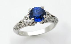18KW Sapphire & Diamond