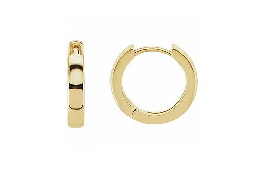 14KY 11.5mmHinged Huggie Hoop Earrings