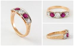 14 KTT Ruby Diamond Ring