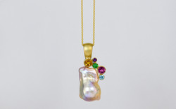Cluster Pearl Pendant