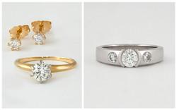 14KW Semi Bezel Diamond Ring