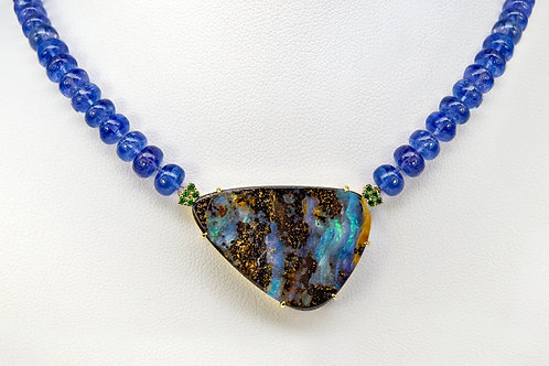 14KY Boulder Opal Pendant, One-of-a-Kind
