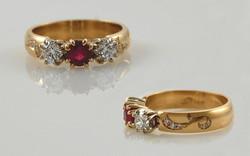 Ruby & Diamond with Diamond Swirl Accent