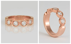 14R Rose Gold Custom Diamond Wedding Ban
