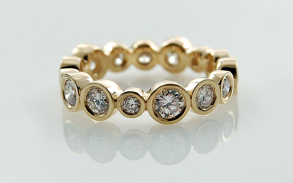 Multi Sized Diamond Bezel Eternity