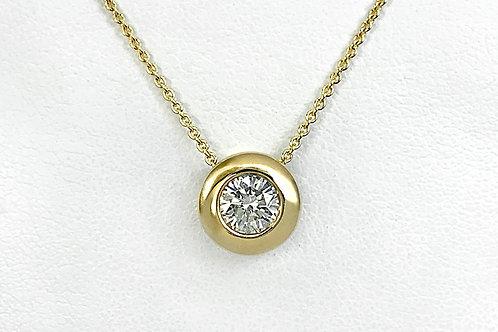 14KY Diamond Bezel Pendant