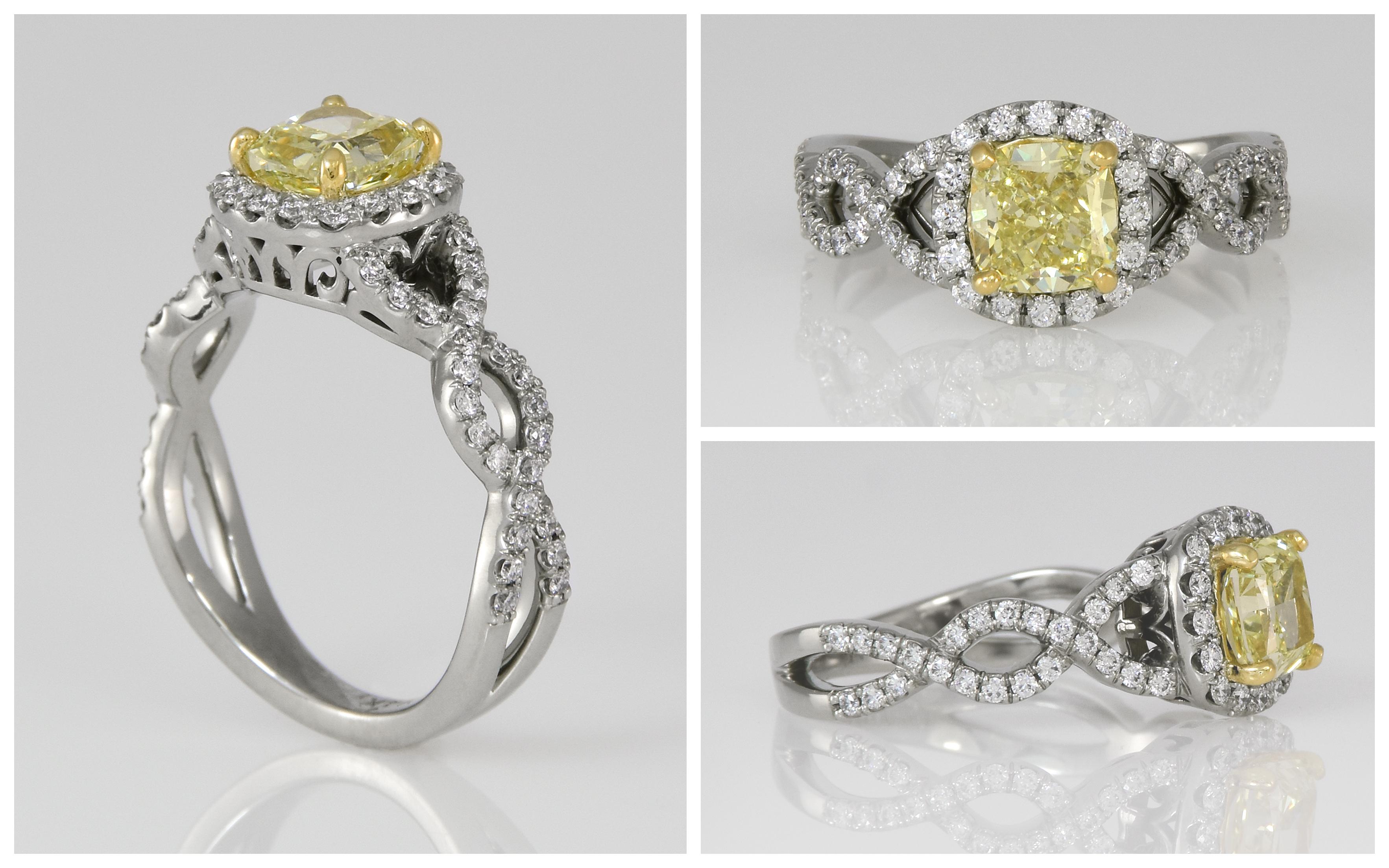 Yellow Diamond and Custom Diamond Scallo
