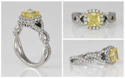 Yellow Diamond and Custom Diamond Scallo