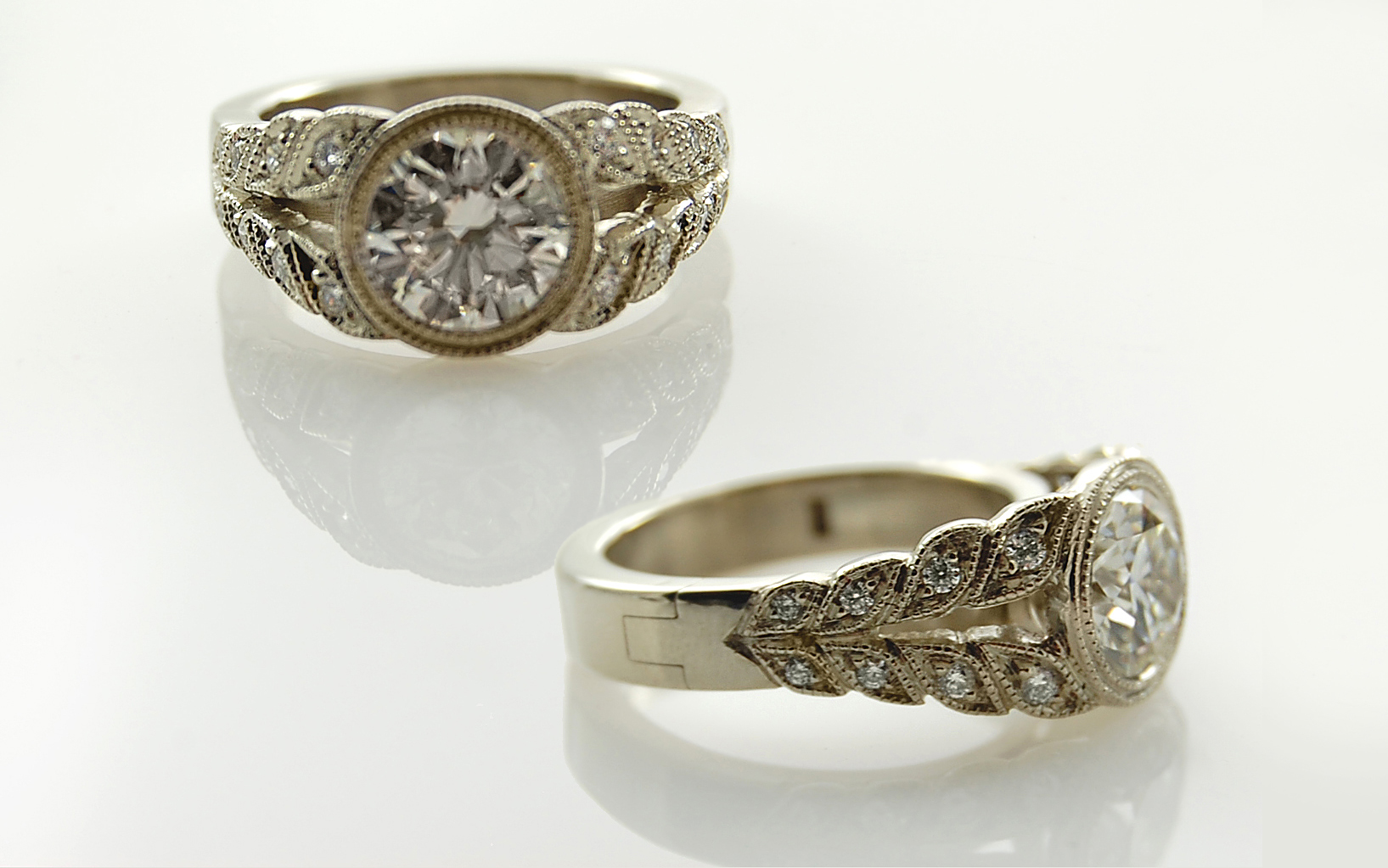 1.47 carat Old European Cut with 6mm Superfit Band