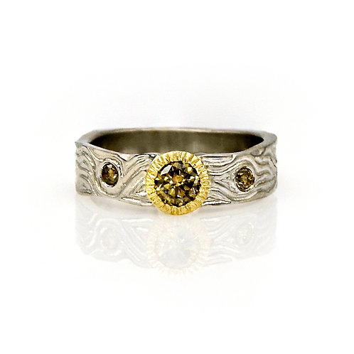 14KW/Y Brown Diamond Ring