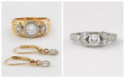 Custom Platinum Diamond Ring B&A