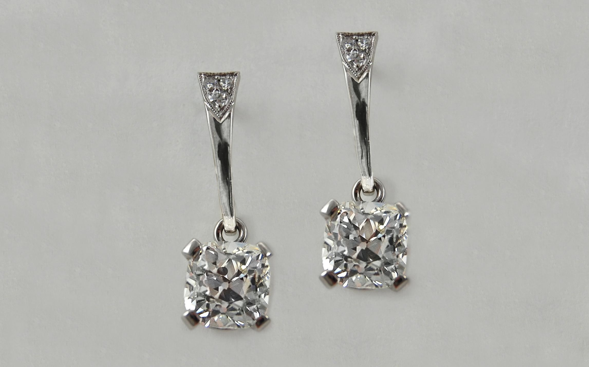 Old European Cut Diamond Drops