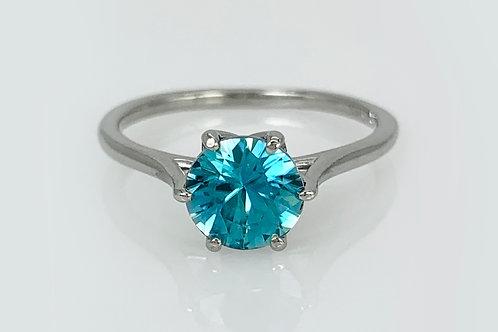 14KW Blue Zircon Ring