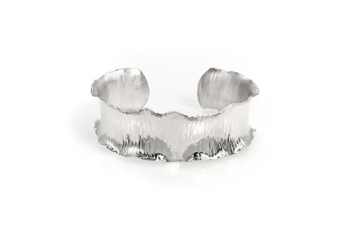 Sterling Silver Ripple Bracelet - Wide