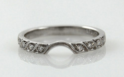 Bead Set Diamond Band with Curve