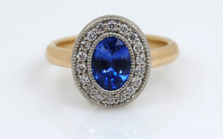Sapphire & Diamond Halo