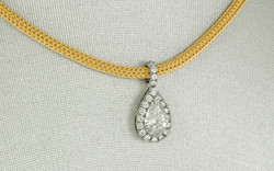 14KW Pear Shaped Diamond Pendant