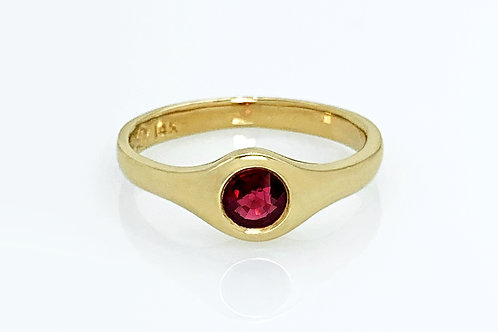 14KY Gypsy Set Ruby Ring